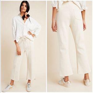 Anthropologie Linda Seamed Fleece Lounge Pants